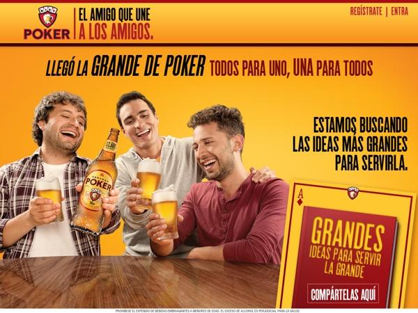 Cerveza Poker I Sitio para: Lanzamiento de la Grande by Cristian Camilo Ordóñez Bravo, via Behance