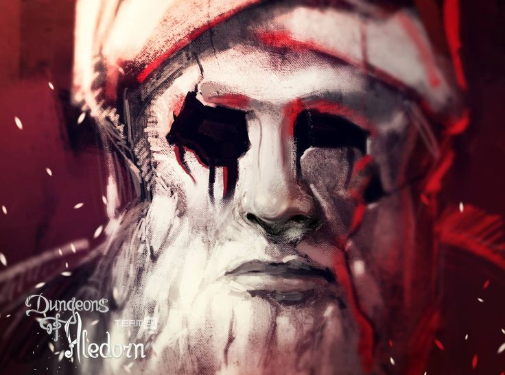 """""""Blindness"""", a spell. RPG video game Dungeons of Aledorn. Game Art by Yeve Drovossekova. Find more in our webstore: http://www.aledorn.com/#store"""