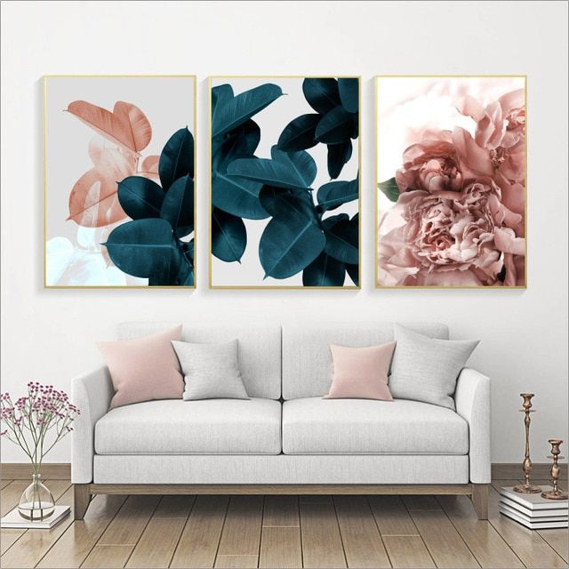 Wall Pictures For Living Room Leaf Cuadros Picture Nordic Poster Floral Wall Art Canvas Paint Floral Wall Art Canvases Floral Wall Art Wall Art Canvas Painting #wall #posters #for #living #room