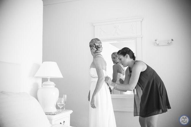 Bride getting ready   Santorini Wedding by Stella and Moscha - Exclusive Greek Island Weddings   Photo by Nikos P. Gogas