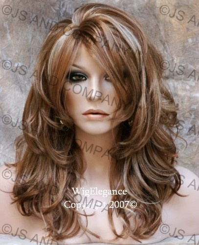 layered long hair style highlighting layers side bangs hair 8326 | d9758b53f54728b378027bed0043cc52