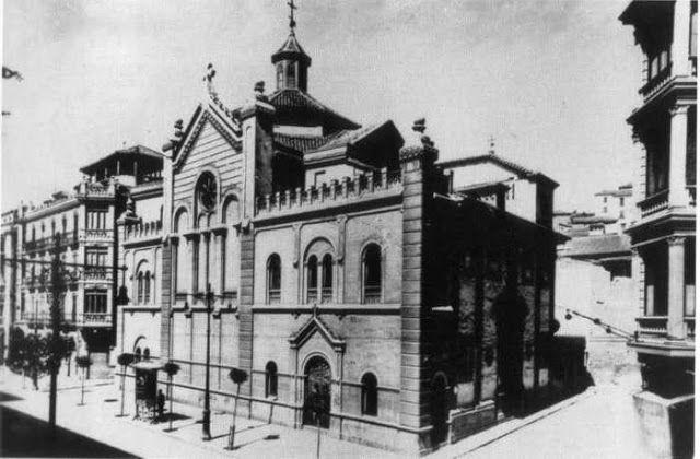 Convento del Santo Ángel Custodio. Solar ocupado por la actual Fiscalía, antiguo Banco de España.