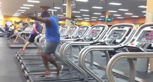 Funny Treadmill Dance