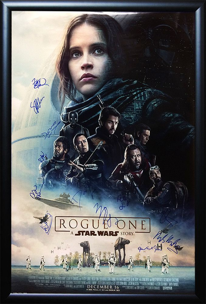 Rogue One A Star Wars Story Signed Movie Poster Movie