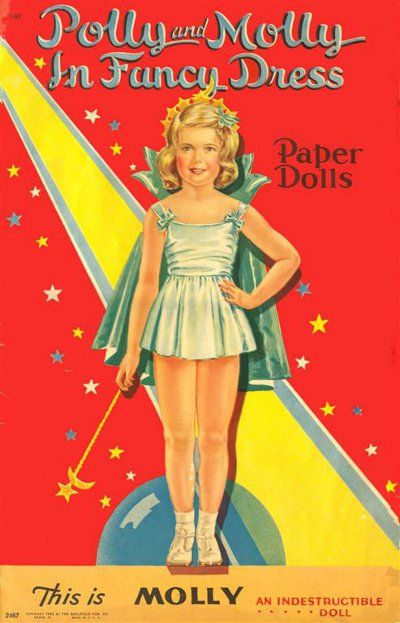 Polly and Molly Paper Dolls
