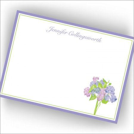 Hydrangea Bouquet Correspondence Cards