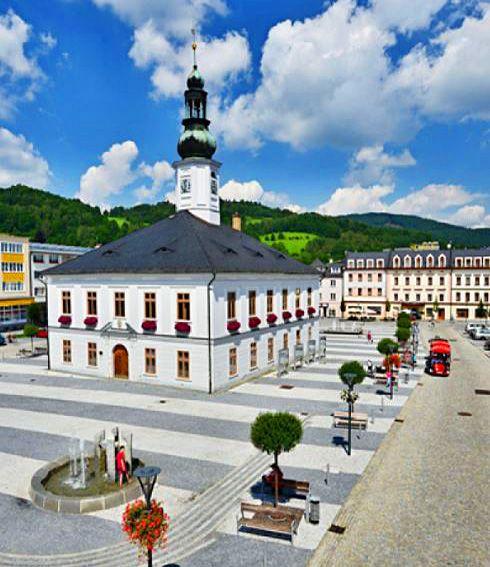 Town Hall in Jeseník (Silesia), Czechia