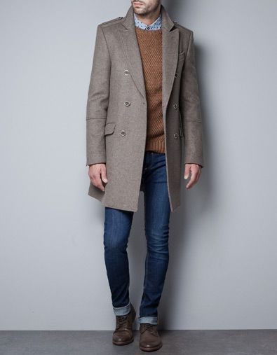 Winter coat with gold button / Zara AW12 £149