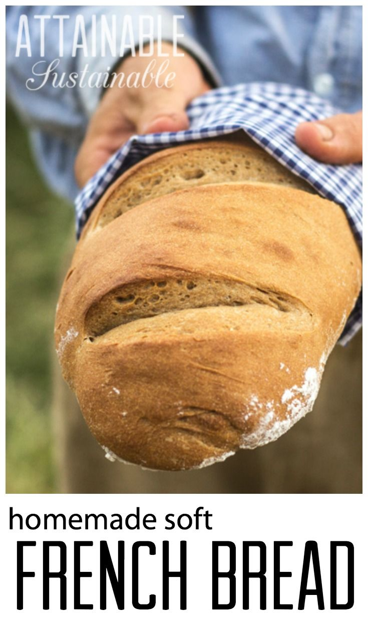 Homemade soft French bread recipe. Baking bread on the homestead.