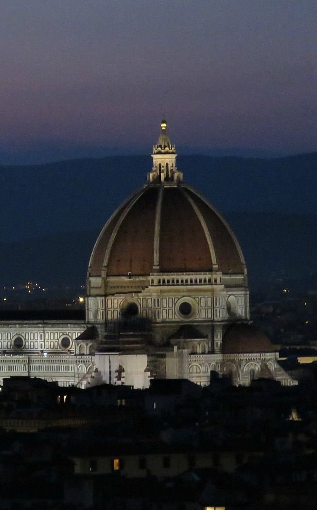 Florence, Italy at Night - the Duomo of Santa Maria Cathedral