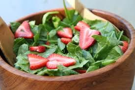 This is a simple, and delightful salad perfect for those warm summer evenings. Enjoy! Ingredients Salad: 6 cups baby spinach leaves 2 cups strawberries, hulled and halved ½ cup freshly grated Parm…