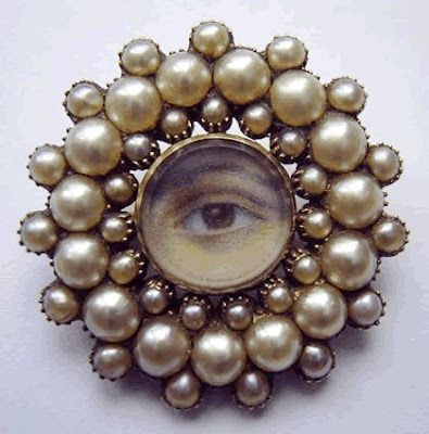 EXHIBIT AT BIRMINGHAM MUSEUM  CUSTOM EYE MINIATURES CAN BE ORDERED AT THE MUSEUM STORE.: About 1800, Georgian Eye, Eye Portraits, Lovers Eye, Eye Jewelry