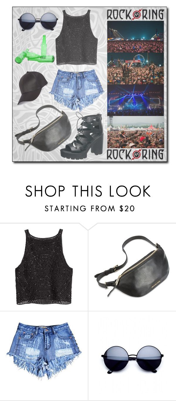 """""""ROCK AM RING - Germany !"""" by hirw ❤ liked on Polyvore featuring H&M, Michael Kors and River Island"""