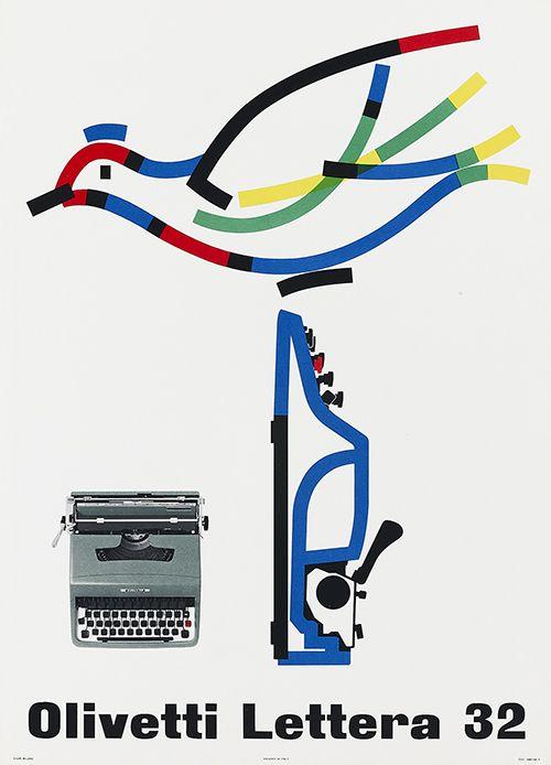 Olivetti Lettera 32 Typewriter - Poster by Giovanni Pintori (1963)
