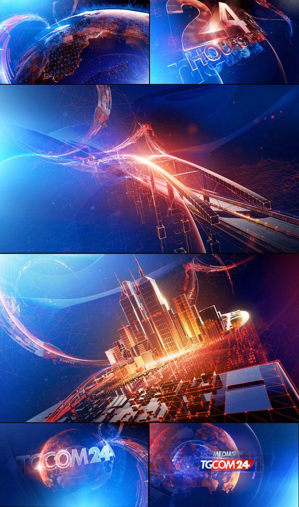 TgCom24 Channel Branding by Angelsign Studio, via Behance
