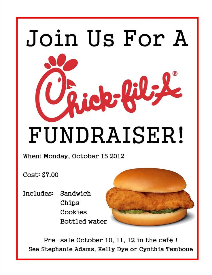 Chick-fil a Fundraiser Flyer Chick fil a fundraiser Stars - benefit flyer template