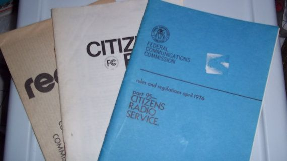 1976 Citizens Band RADIO Pamphlet - booklet rules and regulations - april 1976 - FCC