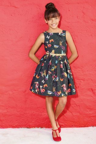 Buy Bird Print Prom Dress (3-12yrs) from the Next UK online shop
