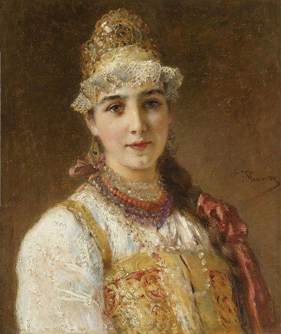Russian beauty, Konstantin Makovsky painting 7