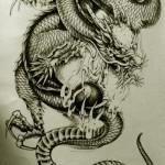 Oriental Dragon Tattoo Style (28)