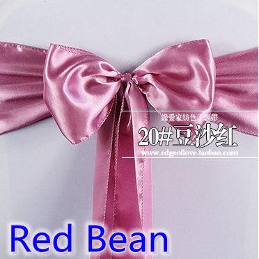 chair sashes,satin sashes,bow tie,bean colour wedding decoration chair sash satin ribbon nord wholesale cheap price self tie