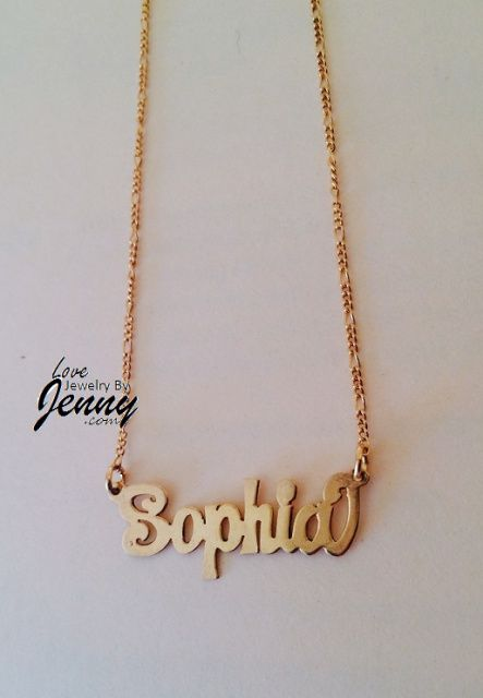 e09686e2c59931 Kids Solid Real 10K Gold Name Plate (single plate) with free chain/  Personalized, High Polished   Gold name necklaces   Gold, Gold name necklace,  ...