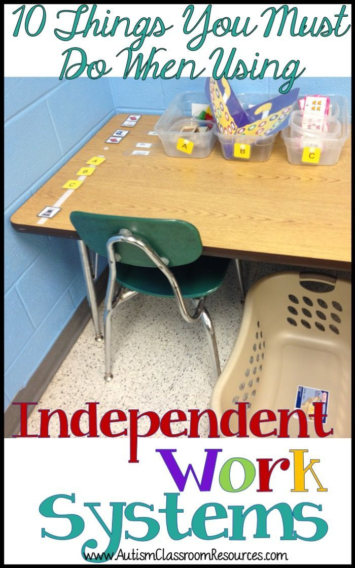 Independent work systems (TEACCH) are a staple in many autism and other special education classrooms.  They are considered an emerging or evidence-based practice for teaching independence.  Setting them up and using them correctly are critical.  Here are 10 tips to get your started on setting up and using them. via @drchrisreeve