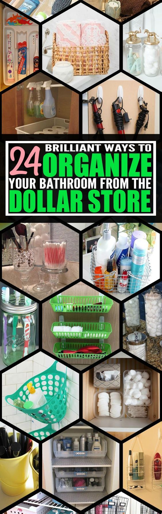 Keep your bathroom organized without breaking your budget with these dollar store bathroom organization ideas.