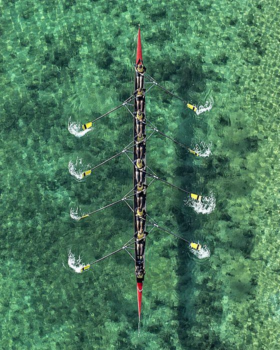 Aerials Rowing by Bernhard Lang, via Behance