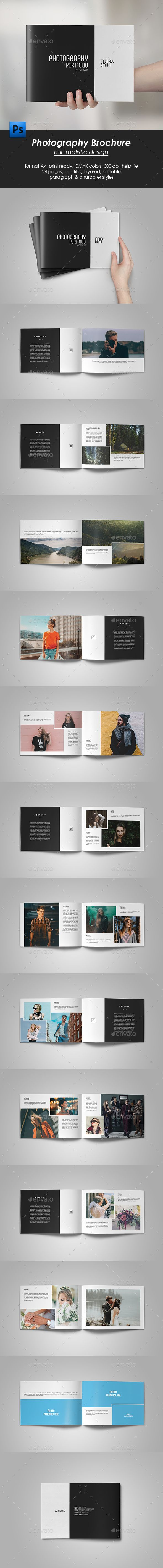 Photography Portfolio Brochure — Photoshop PSD #a4 #corporate • Download ➝ https://graphicriver.net/item/photography-portfolio-brochure/21186831?ref=pxcr