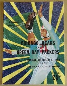 Vintage Green Bay Packers Oct 4th 1953 Game Program vs Chicago Bears ...