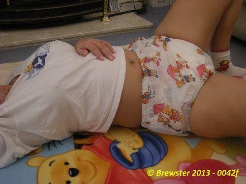 Cute diaper girls
