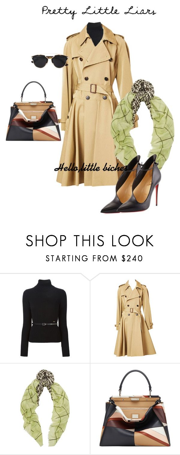 """""""pretty little liars"""" by fanfan-zheng ❤ liked on Polyvore featuring Dsquared2, Jean-Paul Gaultier, Mercy Delta, Christian Louboutin, Fendi, Christian Dior and hellolittlebiches"""