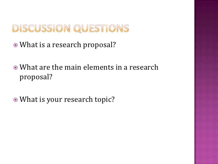 Psychology research proposal topics