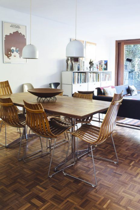 The open plan living and dining area
