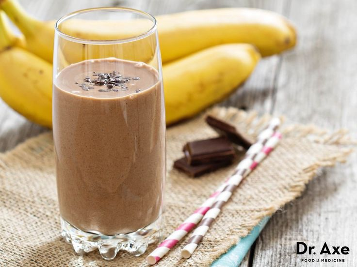 Chocolate banana nut smoothie recipe - Dr. Axe