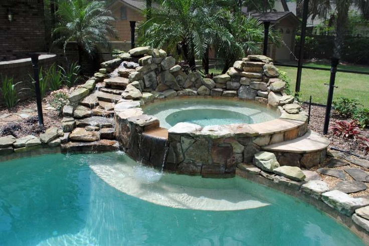 51 best backyard ideas images on pinterest backyard for Koi pond and swimming pool