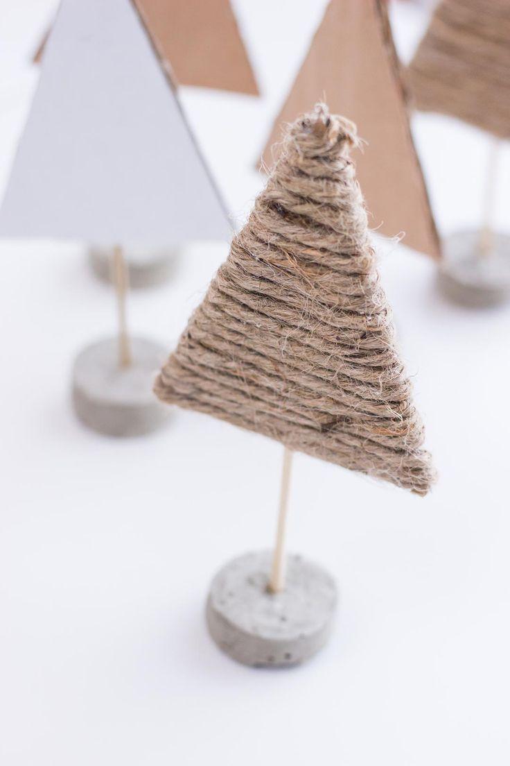 DIY Skandinavische Weihnachtsbäumchen basteln