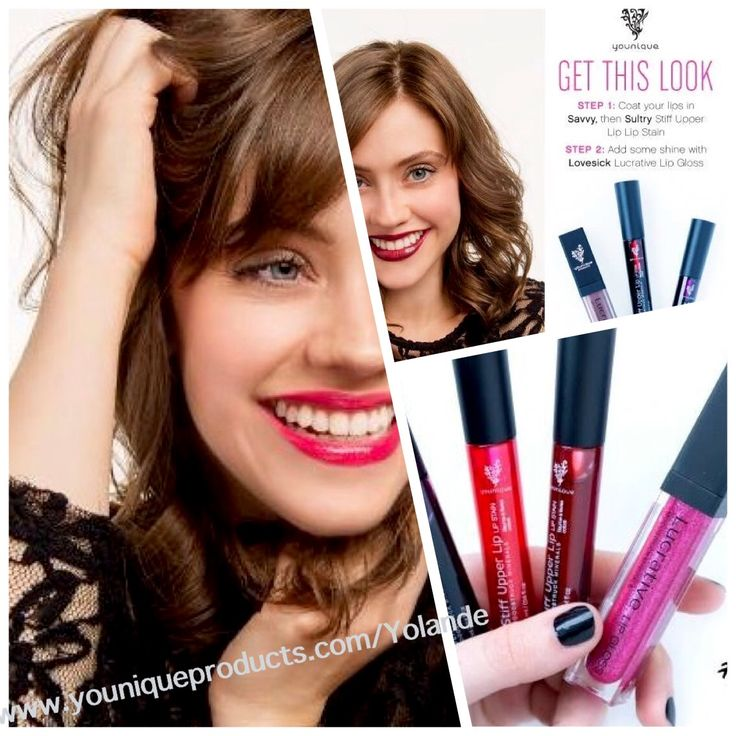 September kudos - Lipstain mix and gloss great way to create your own mix ! www.youniqueproducts/Yolande