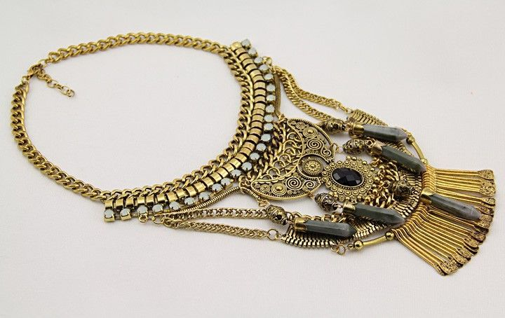 Goddess In Gold - Statement Necklace