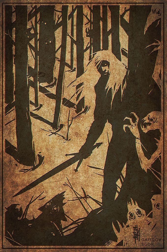 The Witcher : Black and White by EGOR-URSUS.deviantart.com on @deviantART