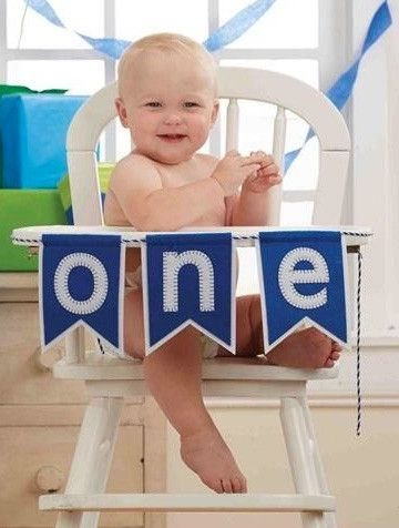 Happy First Birthday Banner Available for Boys or Girls