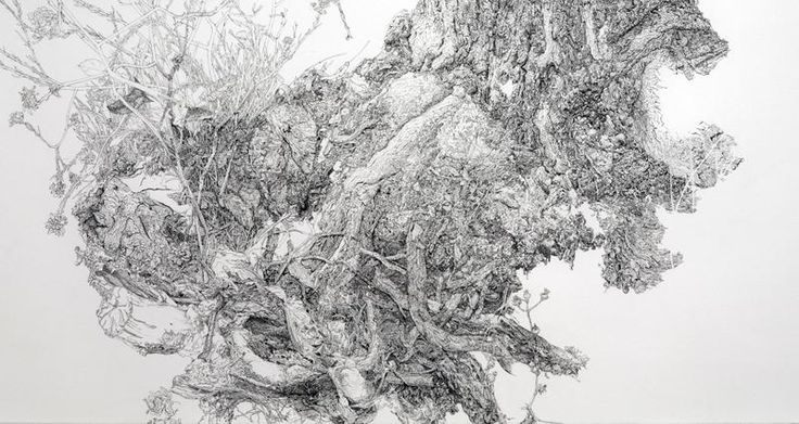 A Sprawling Wall-Sized Mural Drawn With Only a Black Sharpie by Sean Sullivan | Colossal