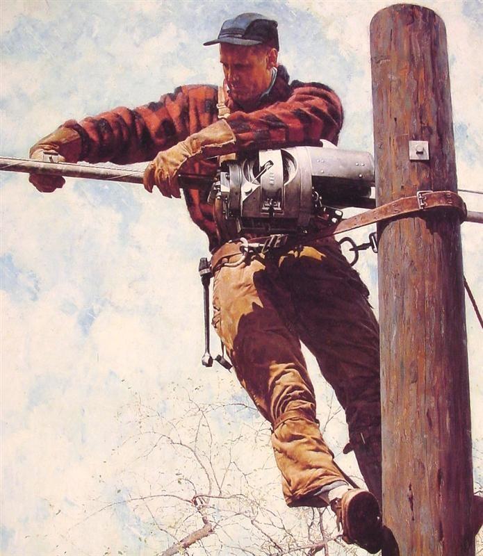 Line man- Norman Rockwell