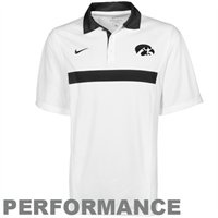Nike Iowa Hawkeyes White Coaches Spread Option Performance Polo - on clearance for only $35.96! Sizes M through 3X currently available!: Gators Gear, Spread Option, White Coaches, Gators White, Coaches Spread, Nike