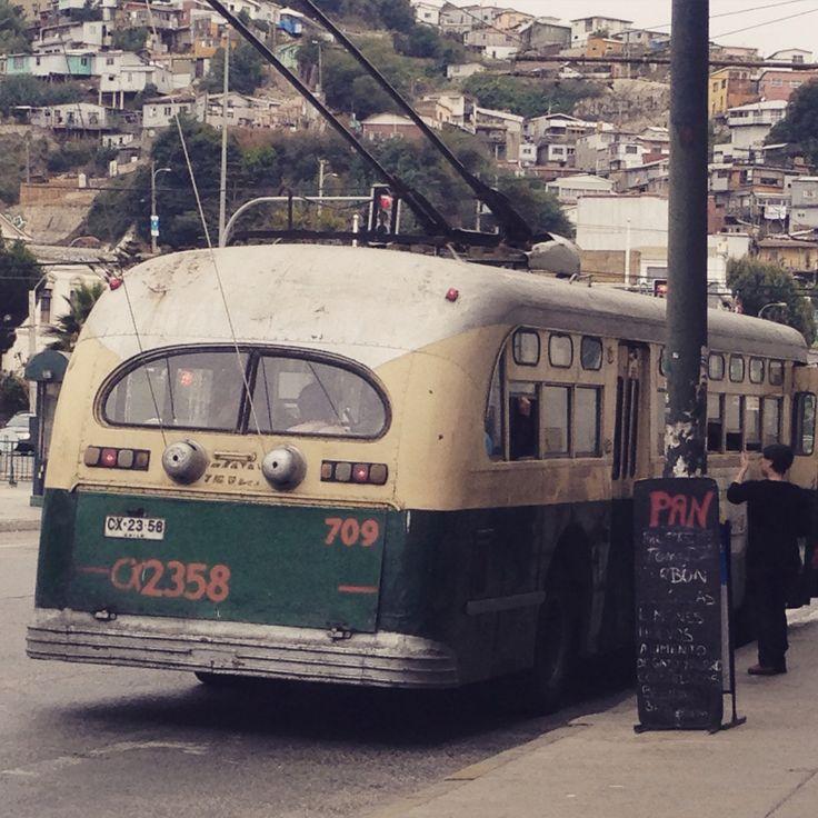 Trole bus, Valparaíso, chile