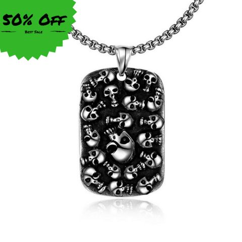 Skull Pendant - Necklace - Price : $34.90 - 50% Off