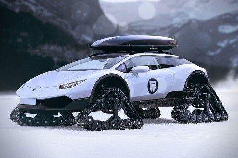 Meet The Lamborghini Huracan Snowmobile, The Pinnacle Of Luxe Winter Travel  | Winter Travel, Lamborghini Huracan And Lamborghini