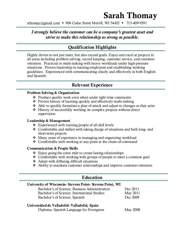 12 best resume writing images on Pinterest Basic resume examples - bar resume examples