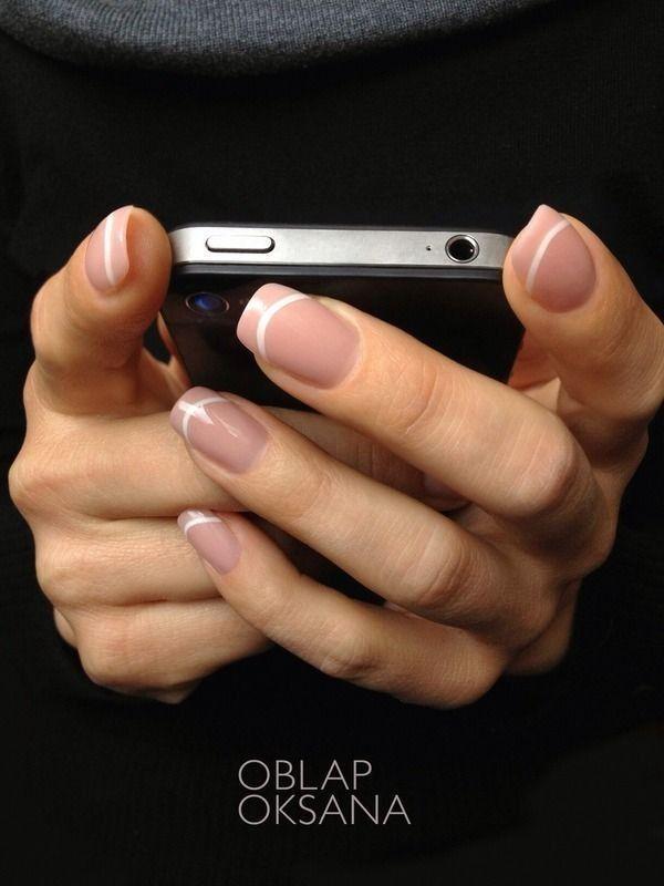 manicure frances natural nails uñas pintar cute decoradas